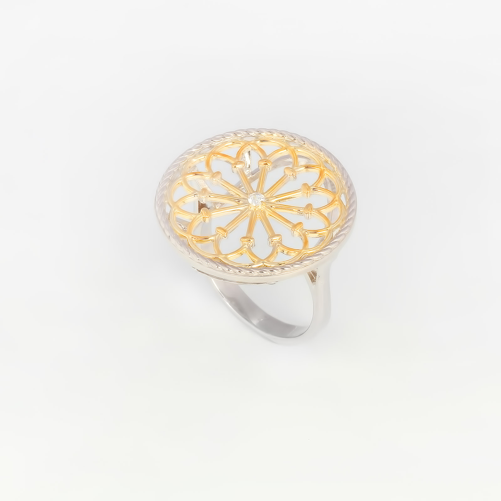 Серебряное кольцо «Европейский Континент»