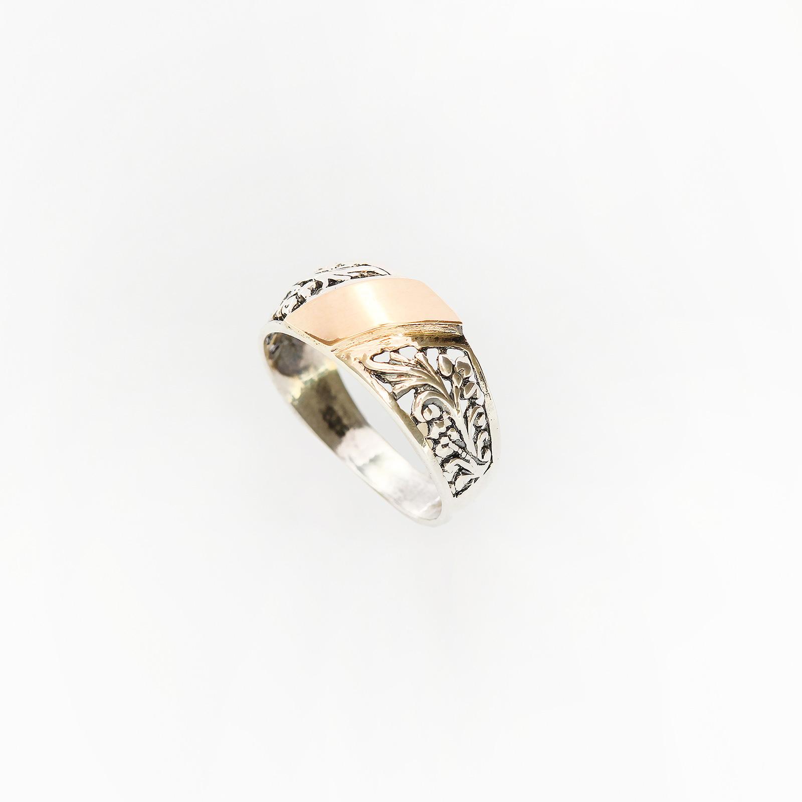 Серебряное кольцо «Венец творения»