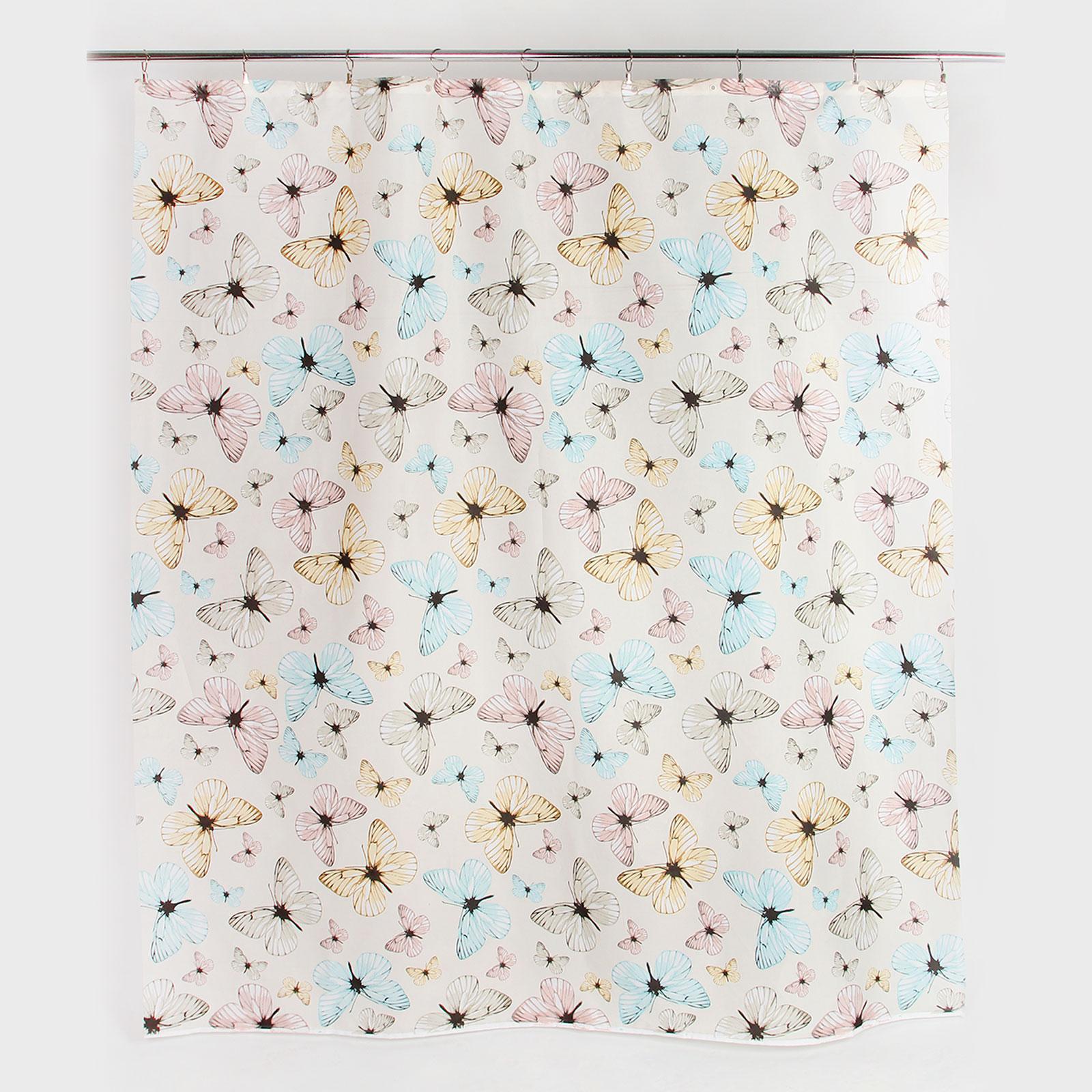 Штора для ванной «Райские бабочки»