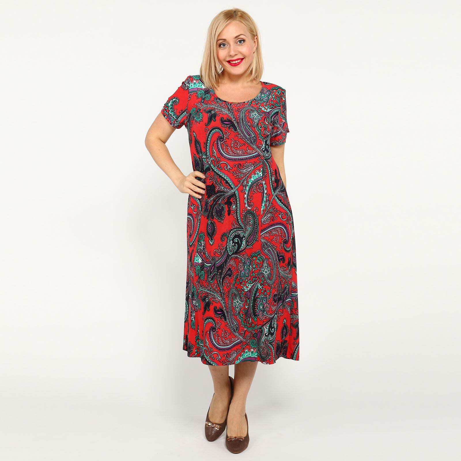 Платье длины миди с оригинальной спинкой