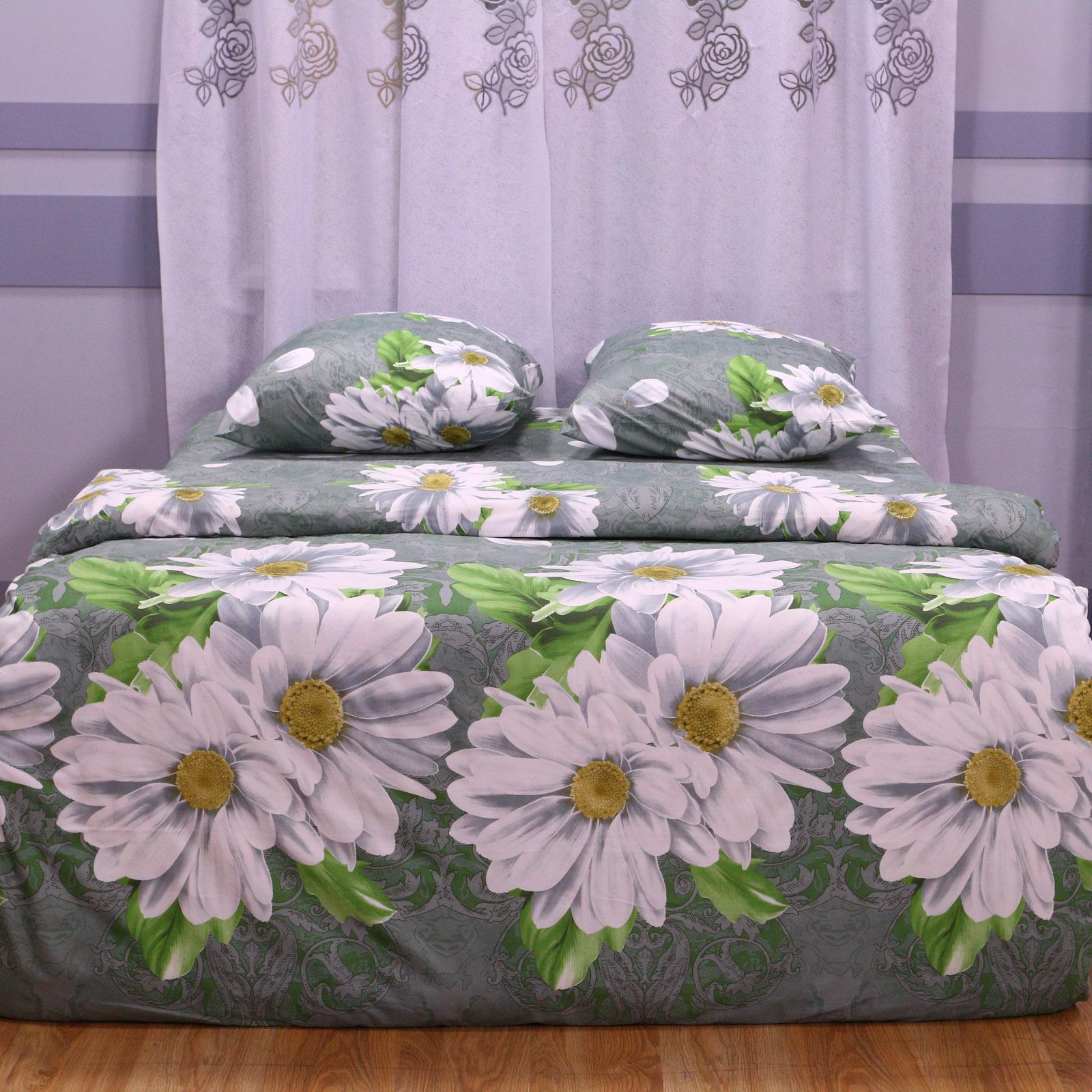 """Комплект постельного белья """"Белые Хризантемы"""""""