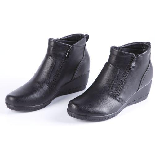 Ботинки женские на платформе и молнии