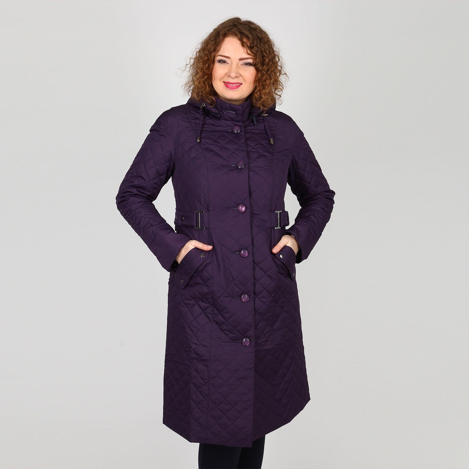 Пальто стеганое на пуговицах с карманами