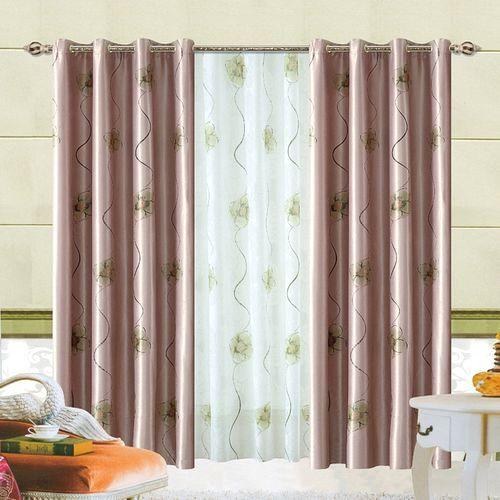 Комплект шторы и тюль «Зеленый сад»