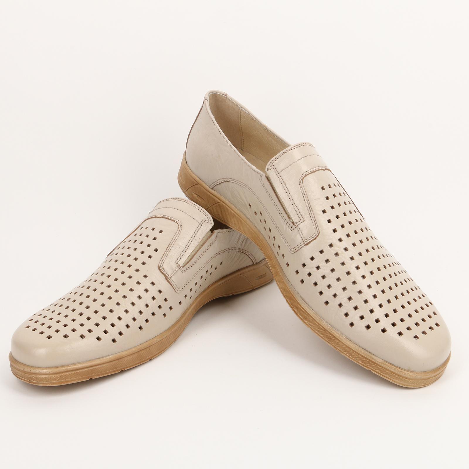Туфли мужские с квадратной перфорацией