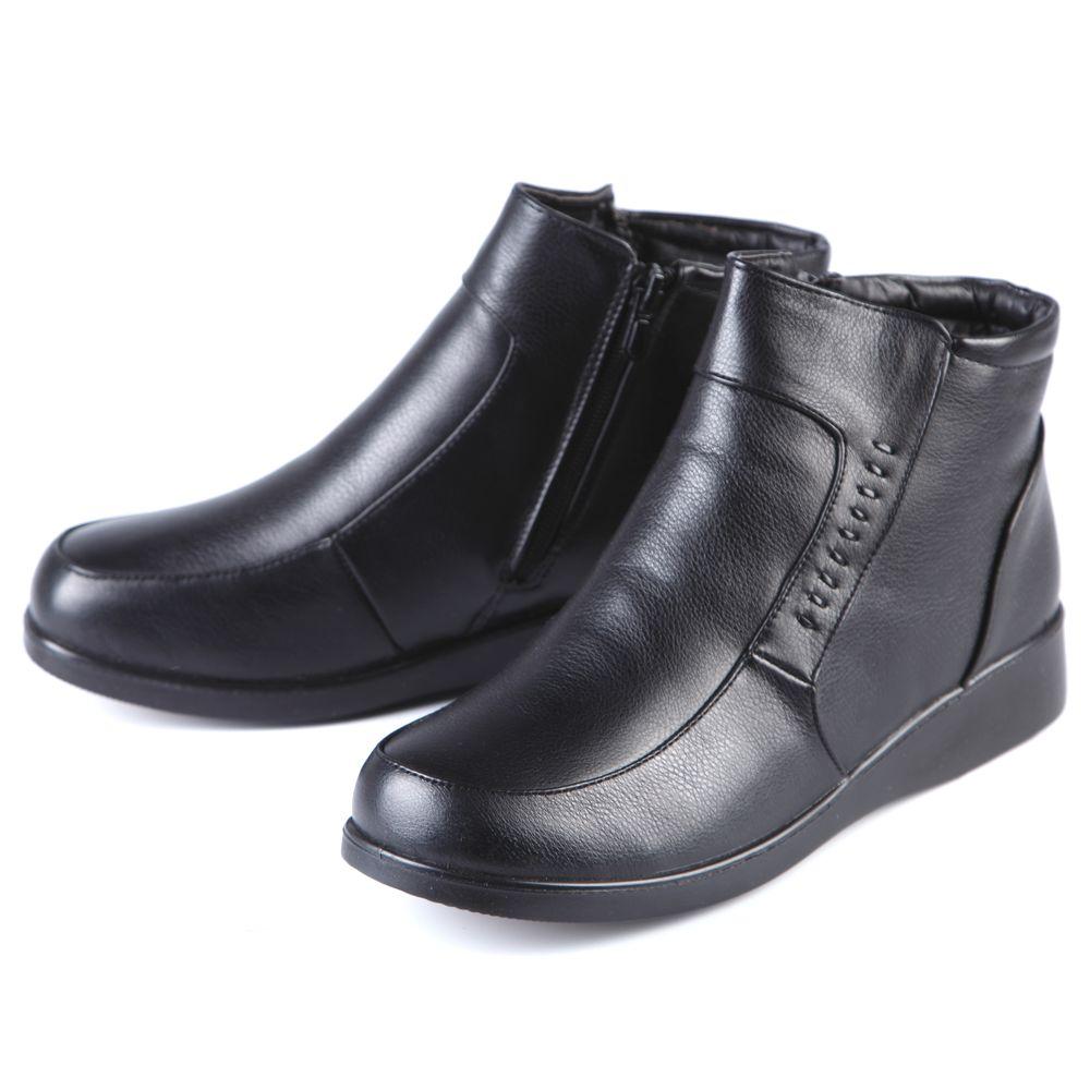 Ботинки женские на функциональной молнии и утолщенной подошве