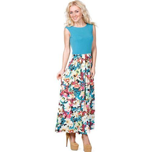 Платье-макси с контрастным цветочным принтом платье с цветочным принтом