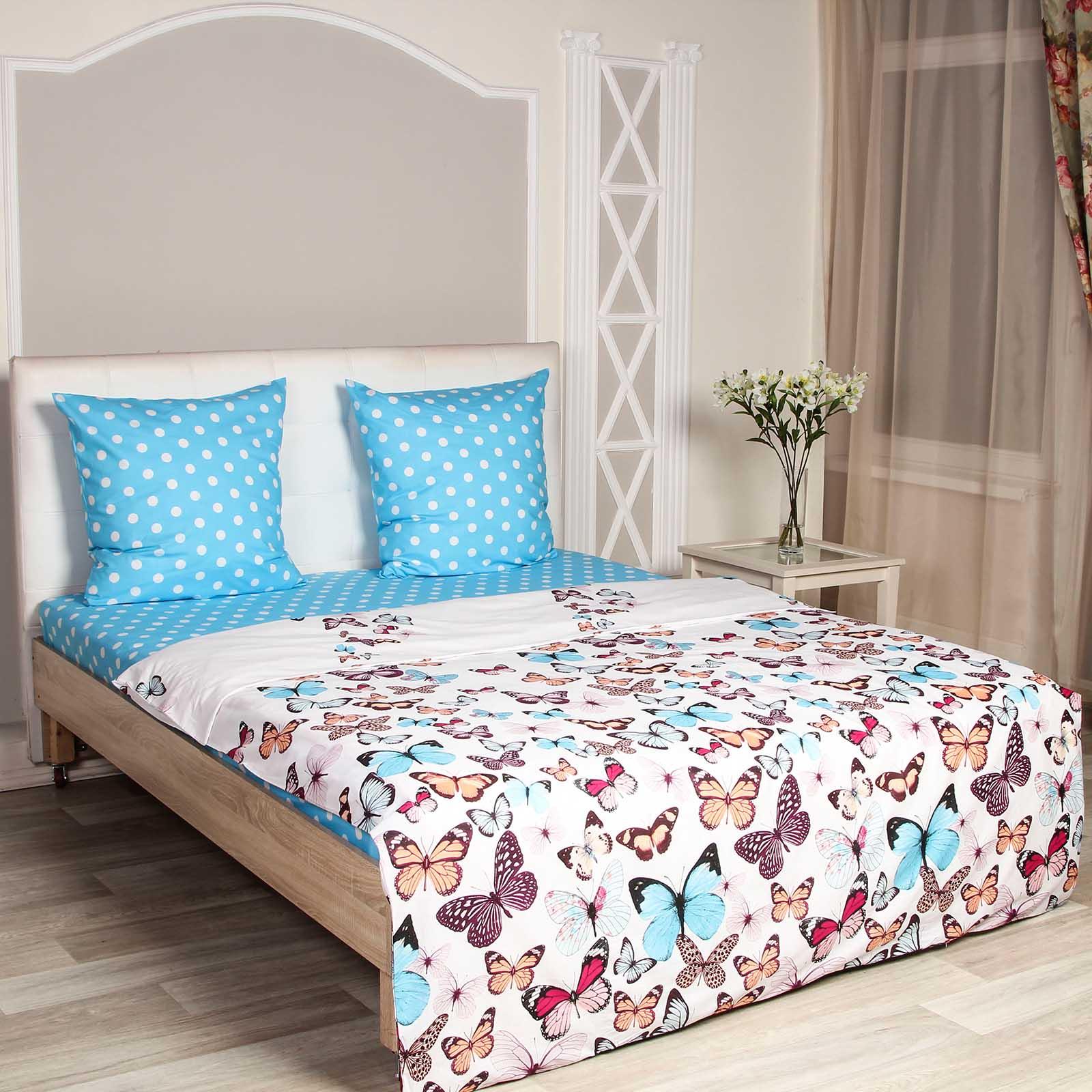 Комплект постельного белья «Радужные бабочки»