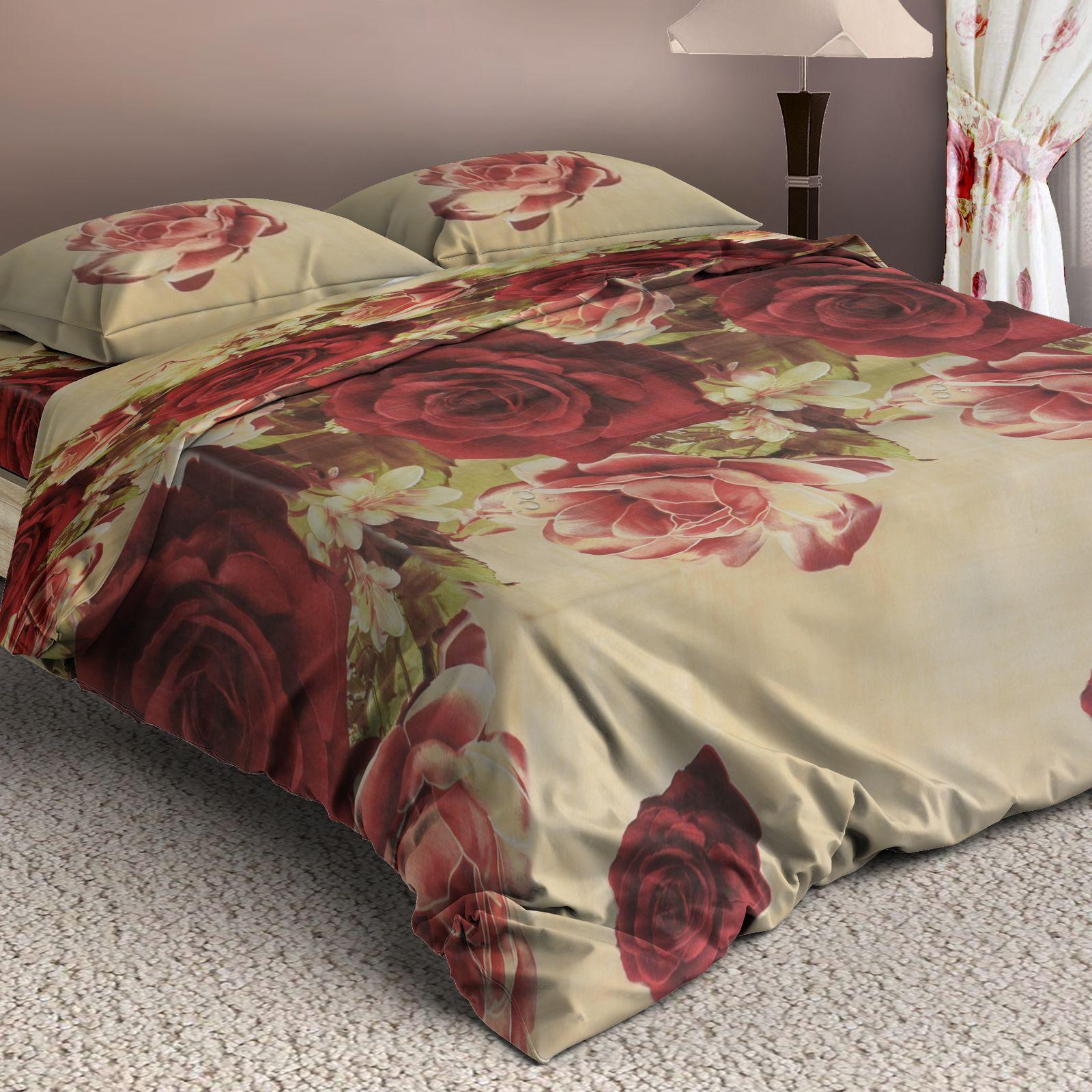 Комплект постельного белья «Бордовый бутон»