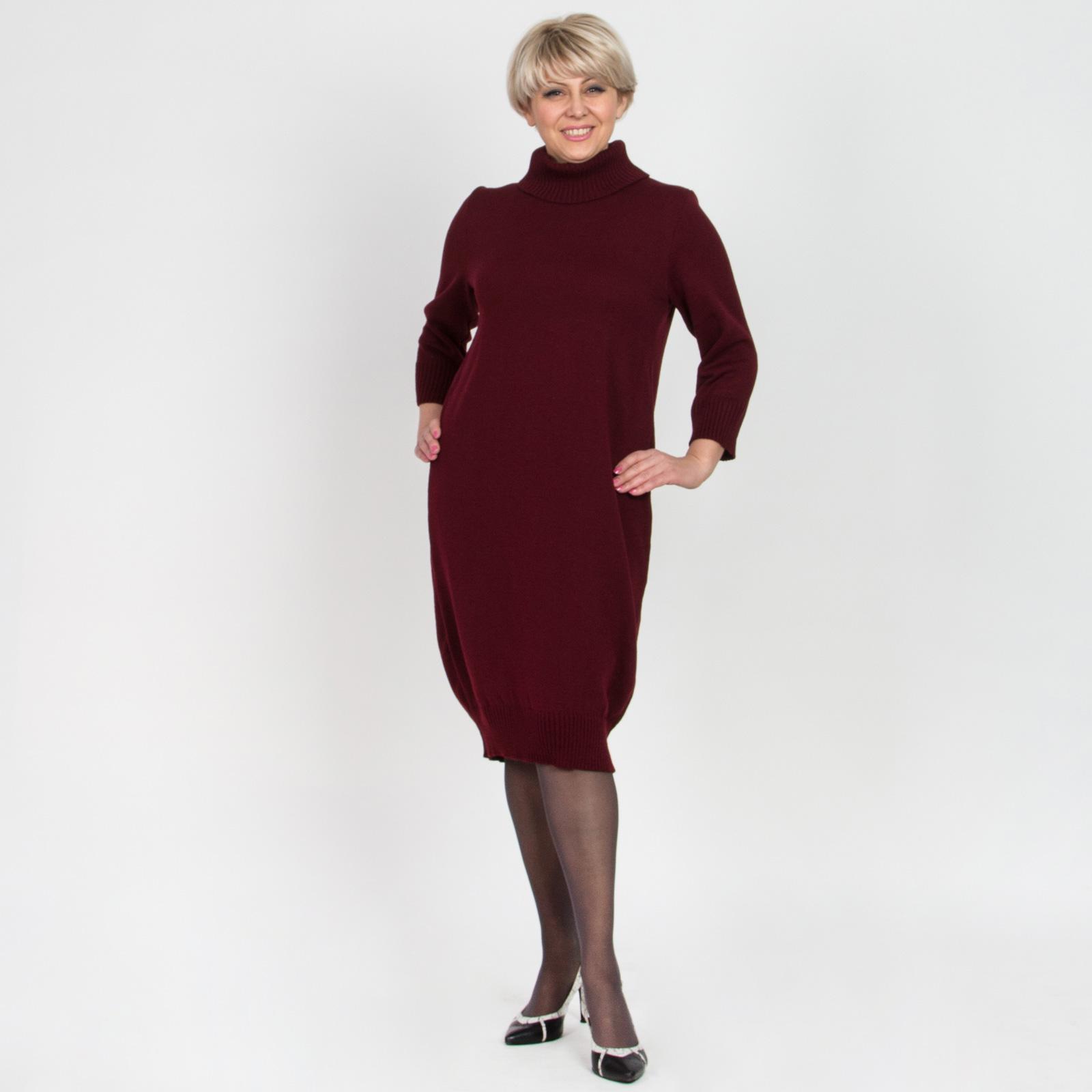 Платье-туника с воротом