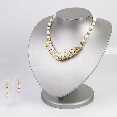 Комплект украшений «Белое золото»