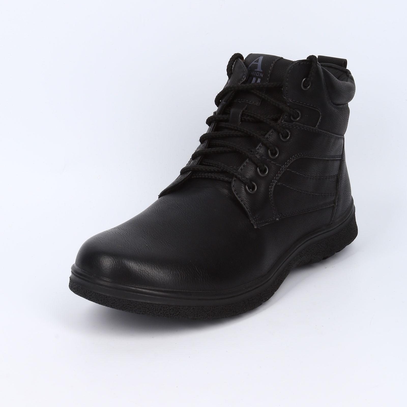 Ботинки мужские на шнурках и с прострочкой