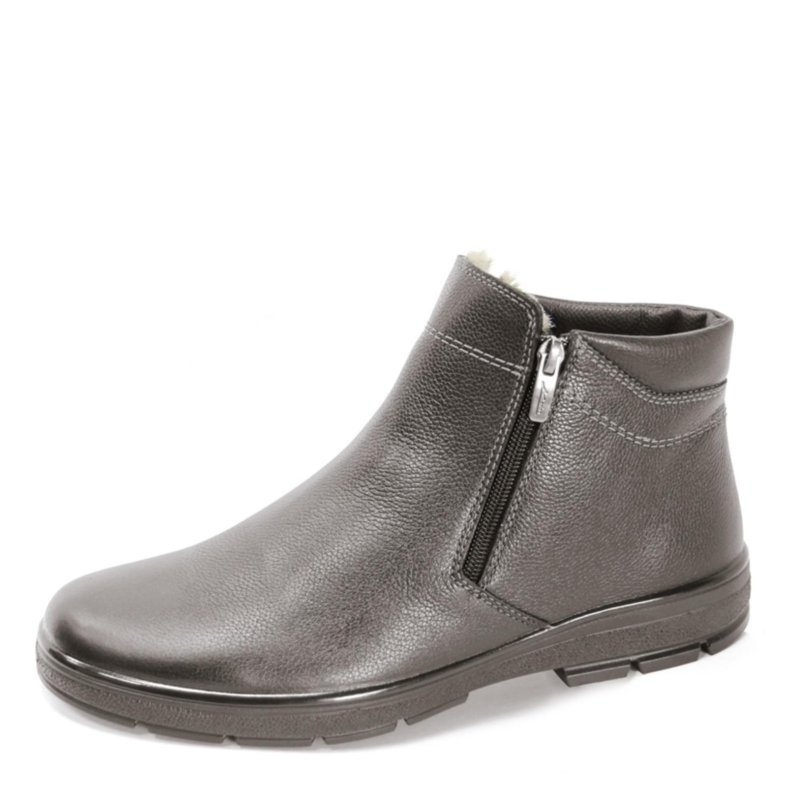 Кожаные мужские ботинки на  молнии
