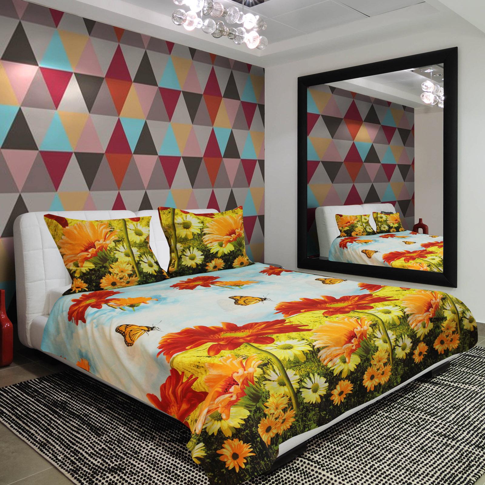 Комплект постельного белья «Разноцветные герберы»