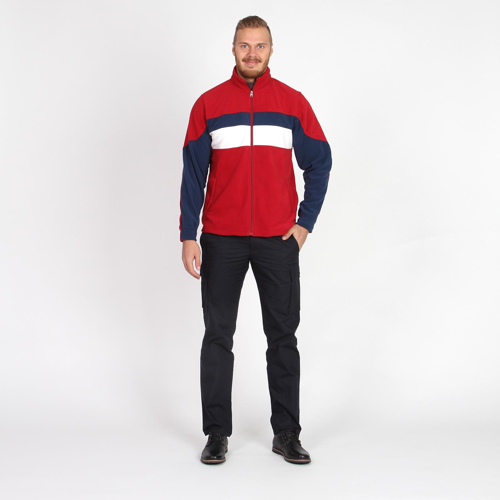 Куртка на молнии с контрастными вставками и воротником стойка