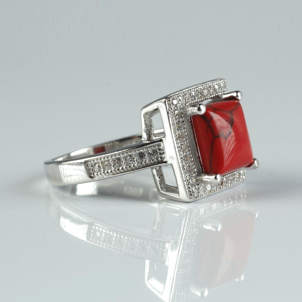 Серебряное кольцо «Осенний поцелуй»