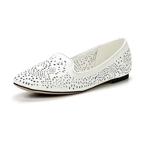 Женские туфли с ажурной перфорацией