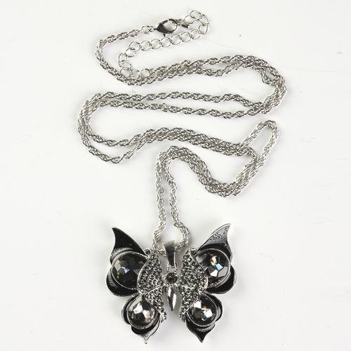 Кулон на цепочке бабочка «Счастье»
