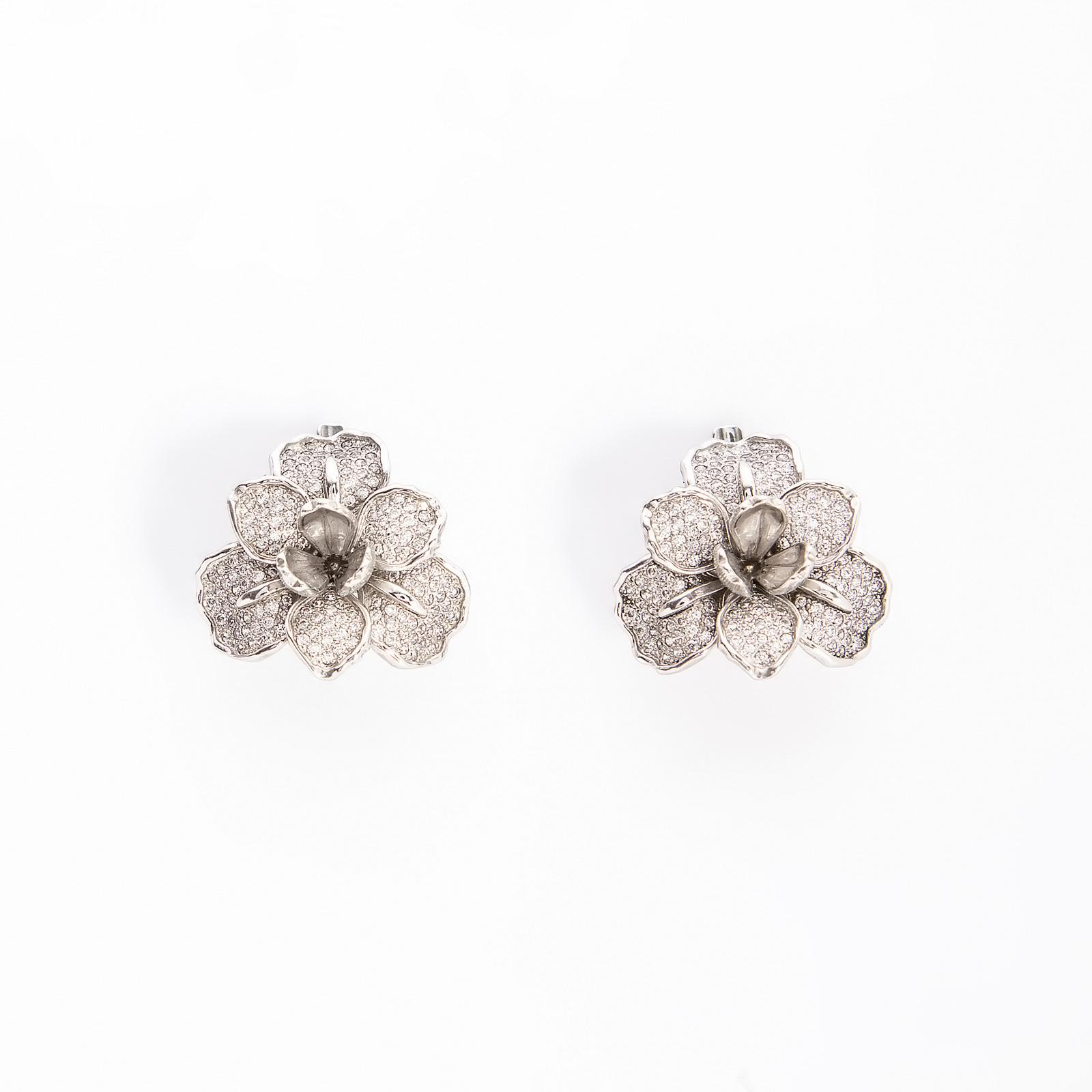 Серебряные серьги «Душистый ирис»
