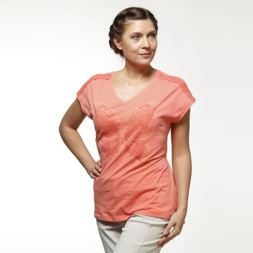Женская футболка с принтом «Бабочка»