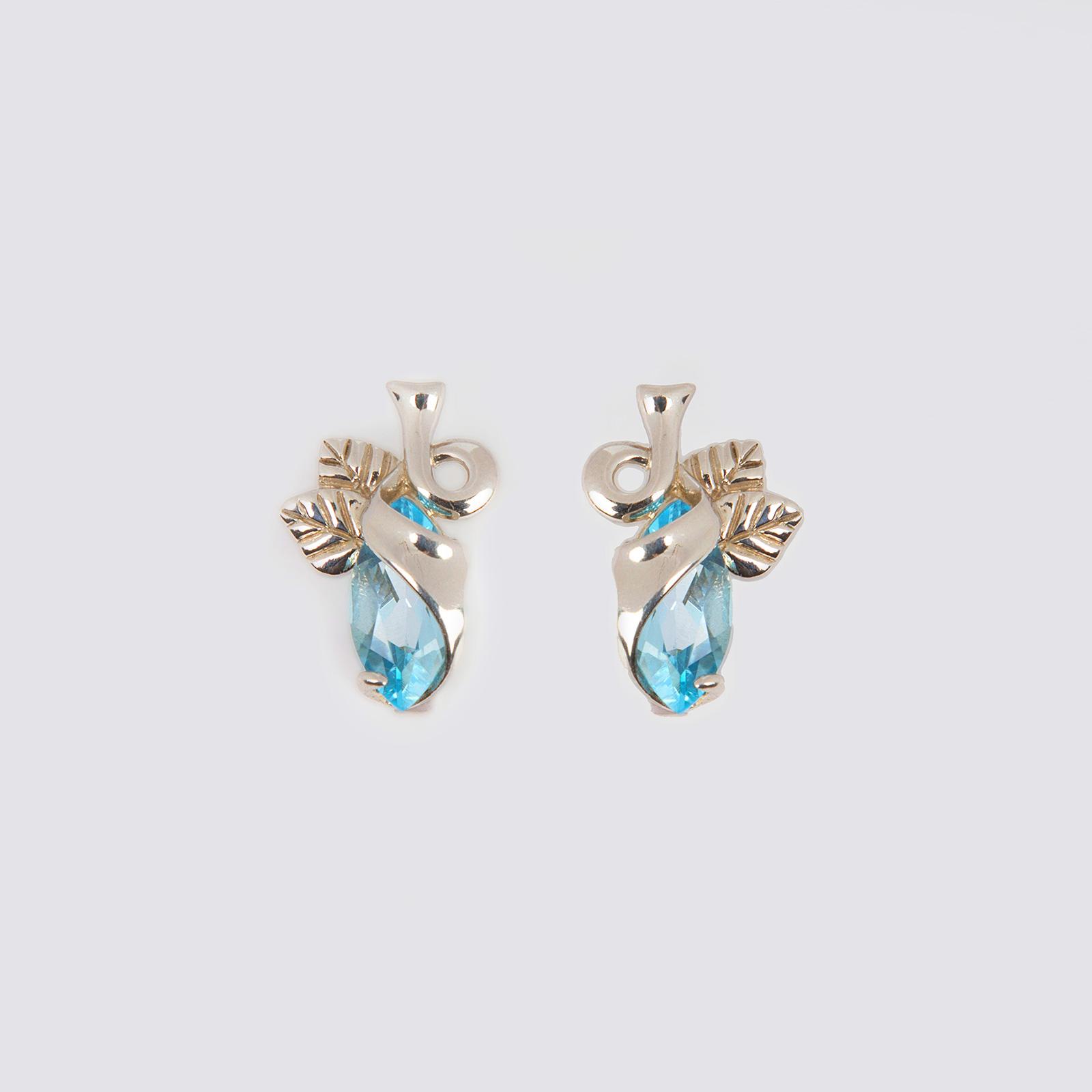 Серьги «Голубой лепесток»