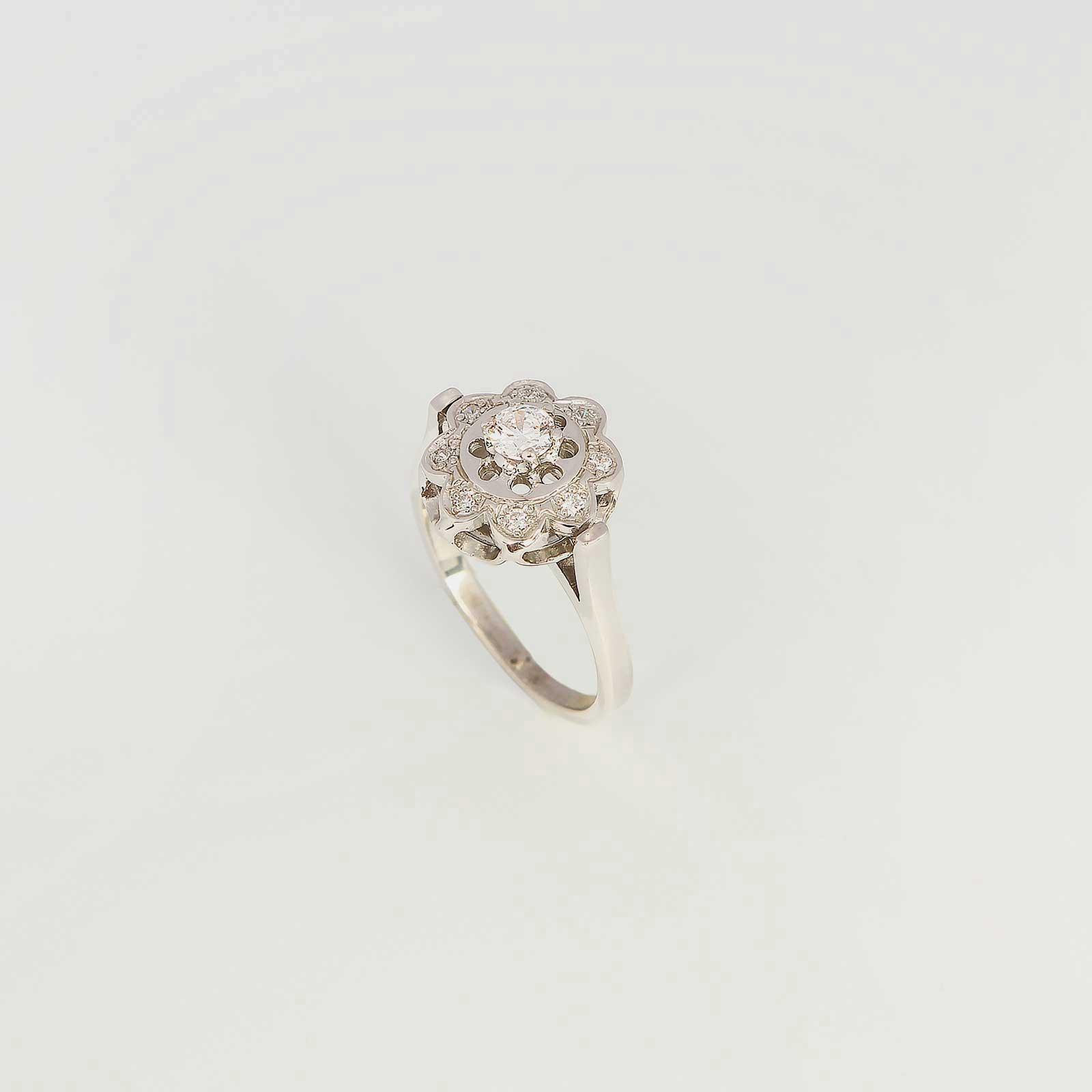 Серебряное кольцо «Цветочек»