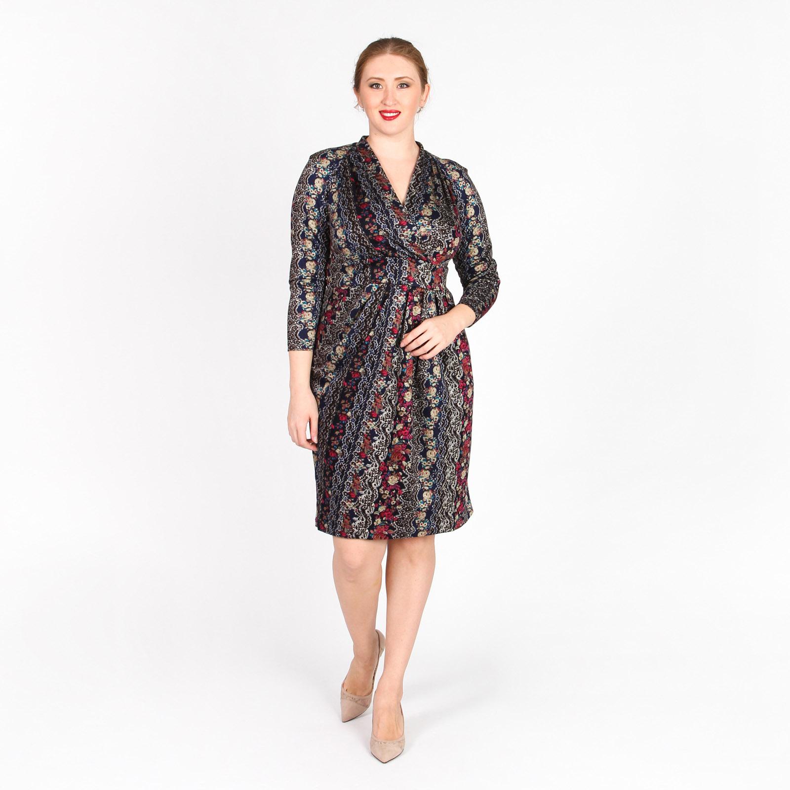 Платье с узорным принтом