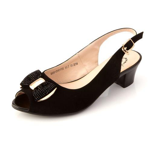 Женские туфли с открытой пяткой  и бантиком