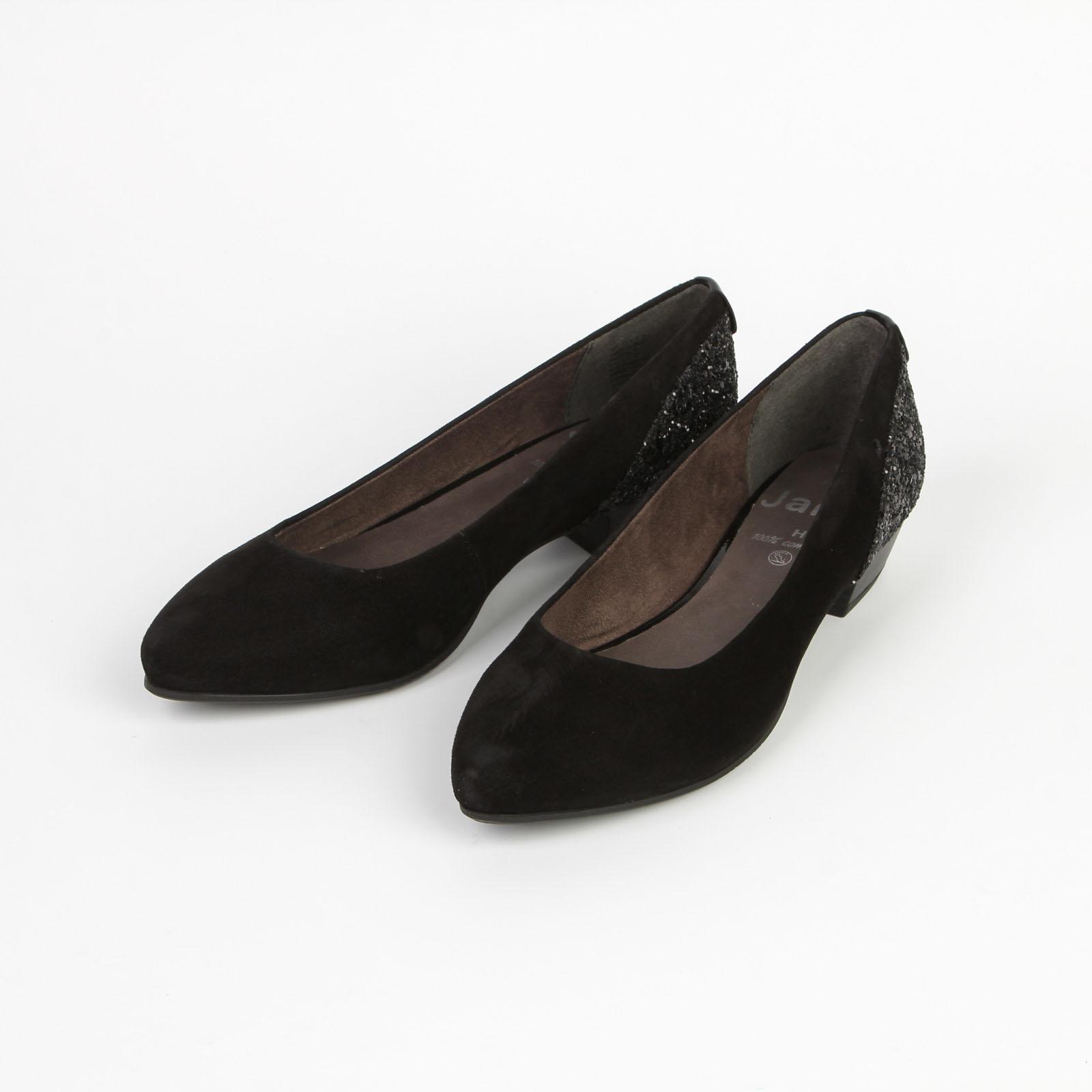 Лодочки женские классические на устойчивом каблуке