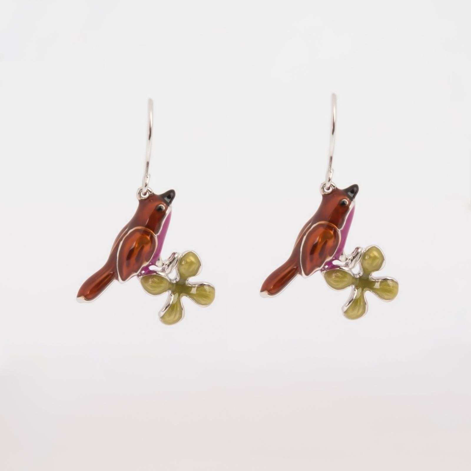Серьги «Весенние птички»