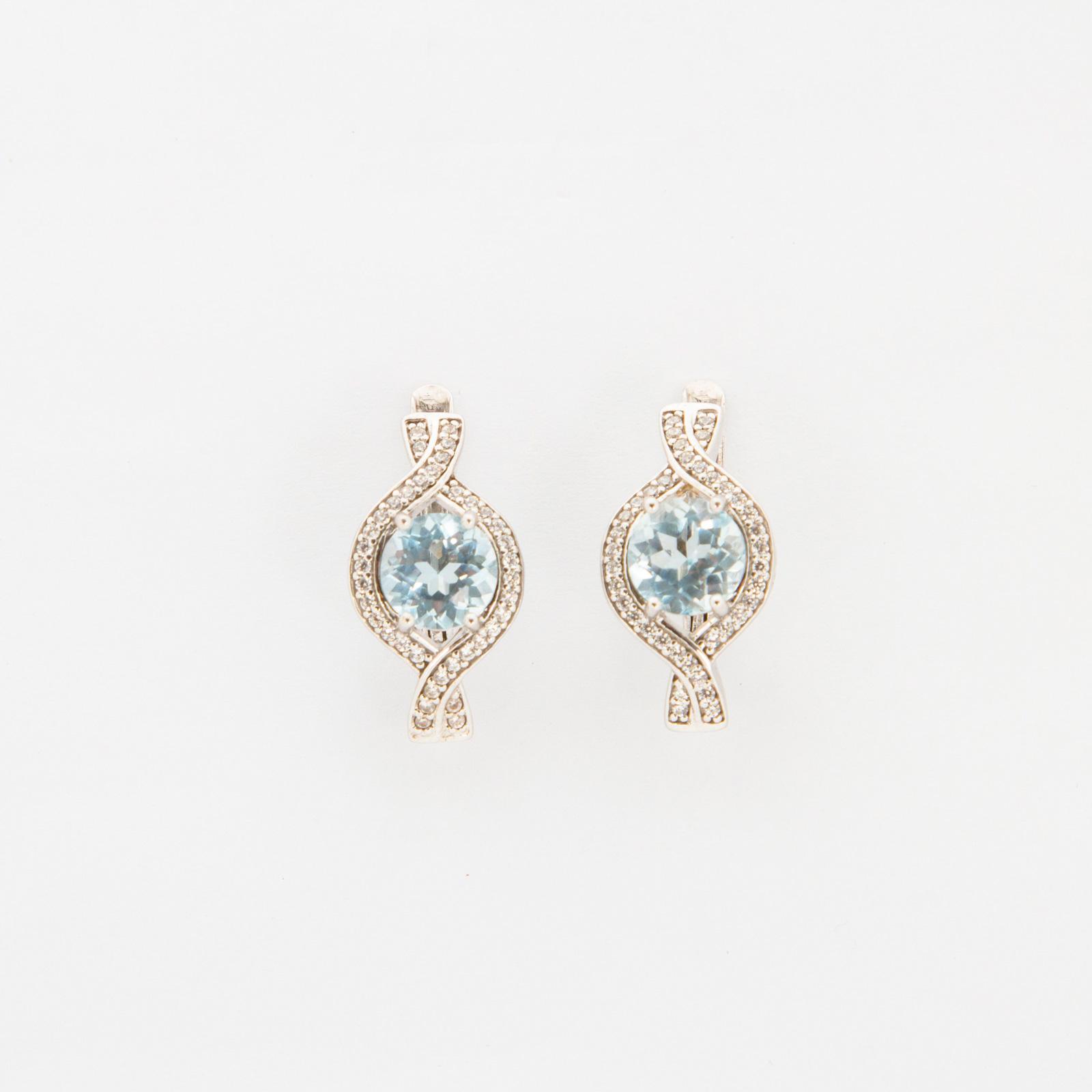 Серебряные серьги «Нолана»