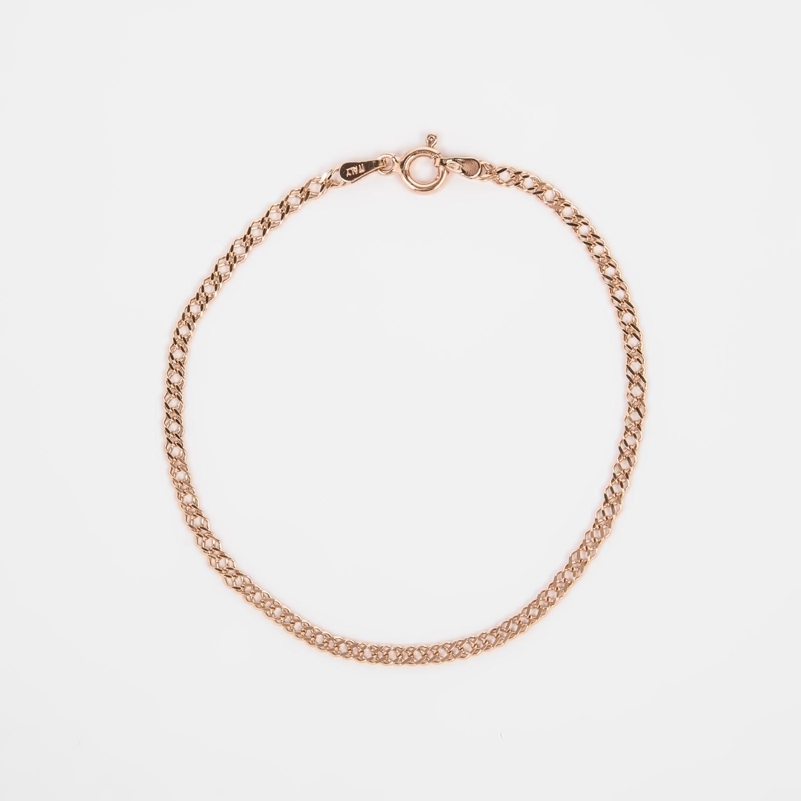 Серебряный браслет «Двойной ромб облегченный»