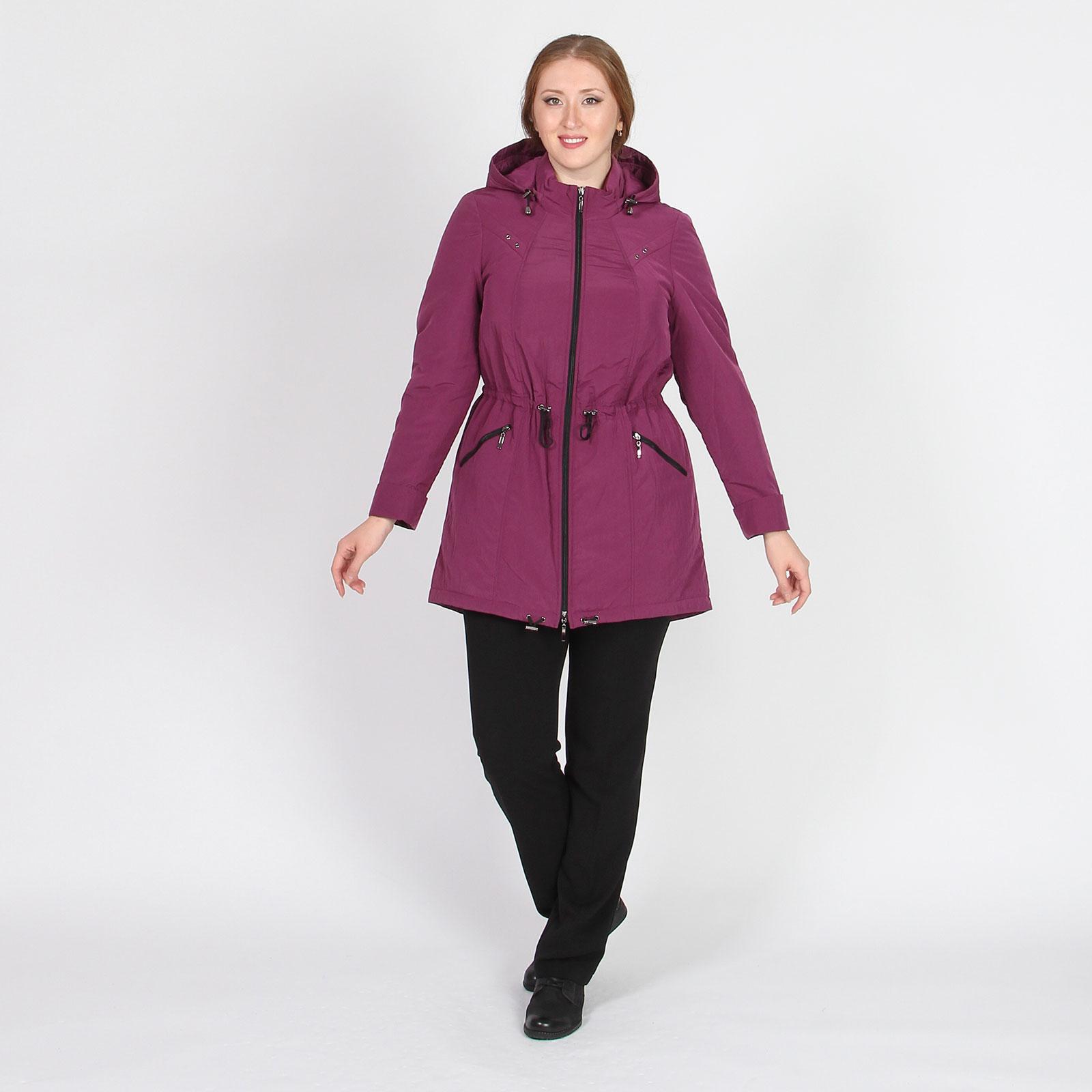 Куртка-парка на молнии с капюшоном на кулиске