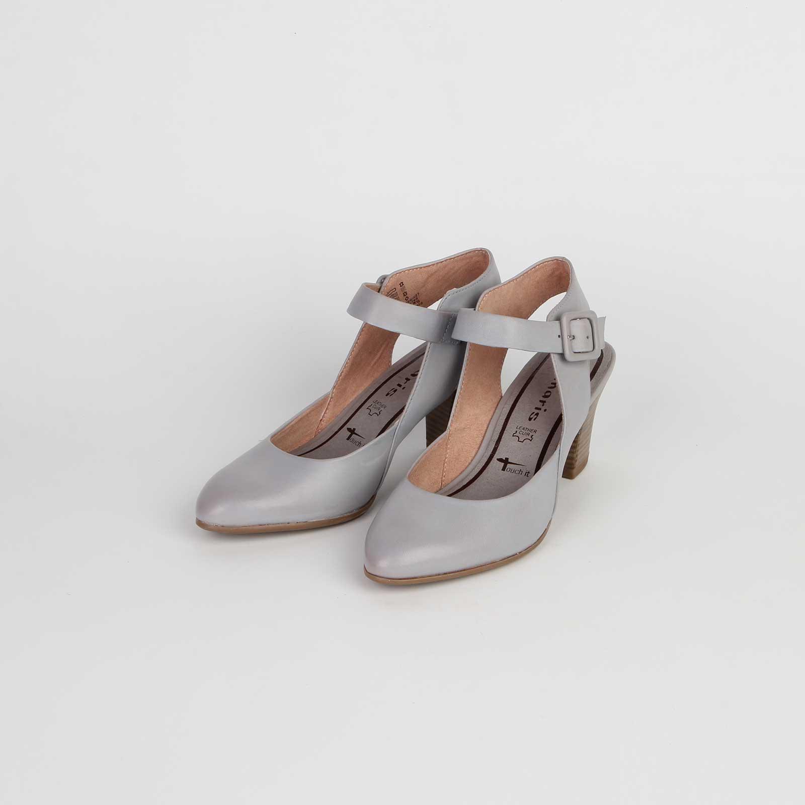 Туфли женские из натуральной кожи с регулируемым ремешком