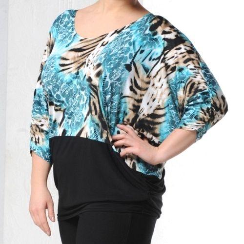 Блуза с широкой планкой