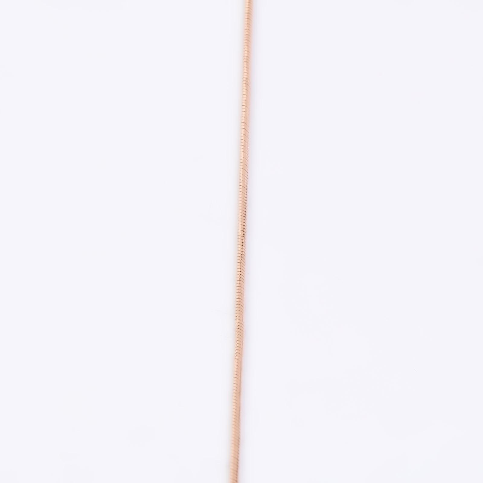 Золотая цепь «Снейк», диаметр 0,25
