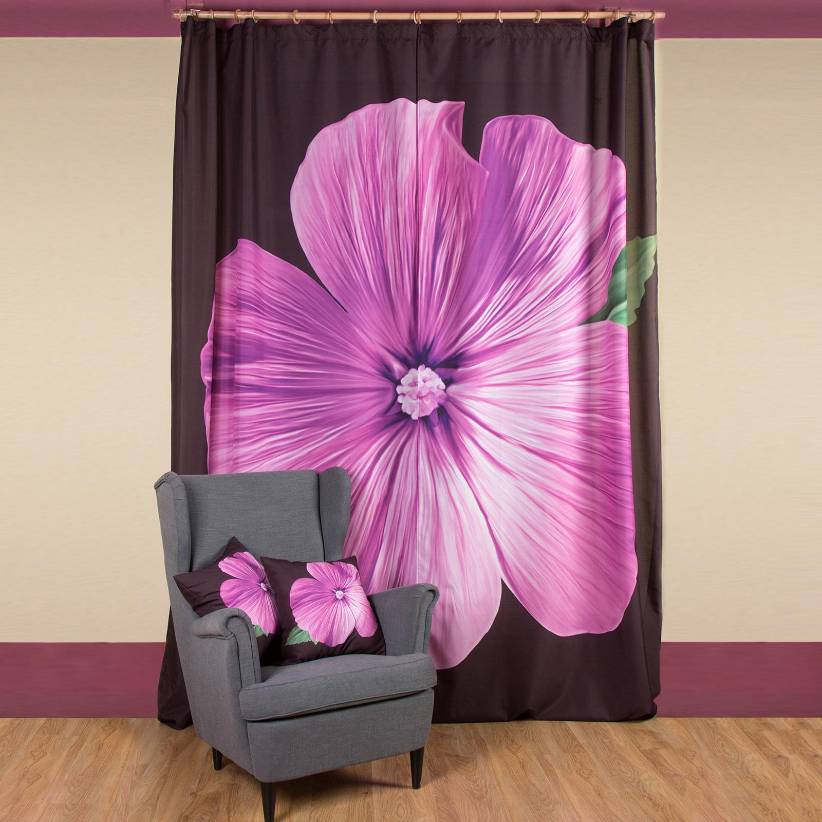 Комплект штор + 2 подушки «Элегант» живые цветы в вакууме купить в саратове