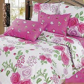 Комплект постельного белья «Розовый сад»