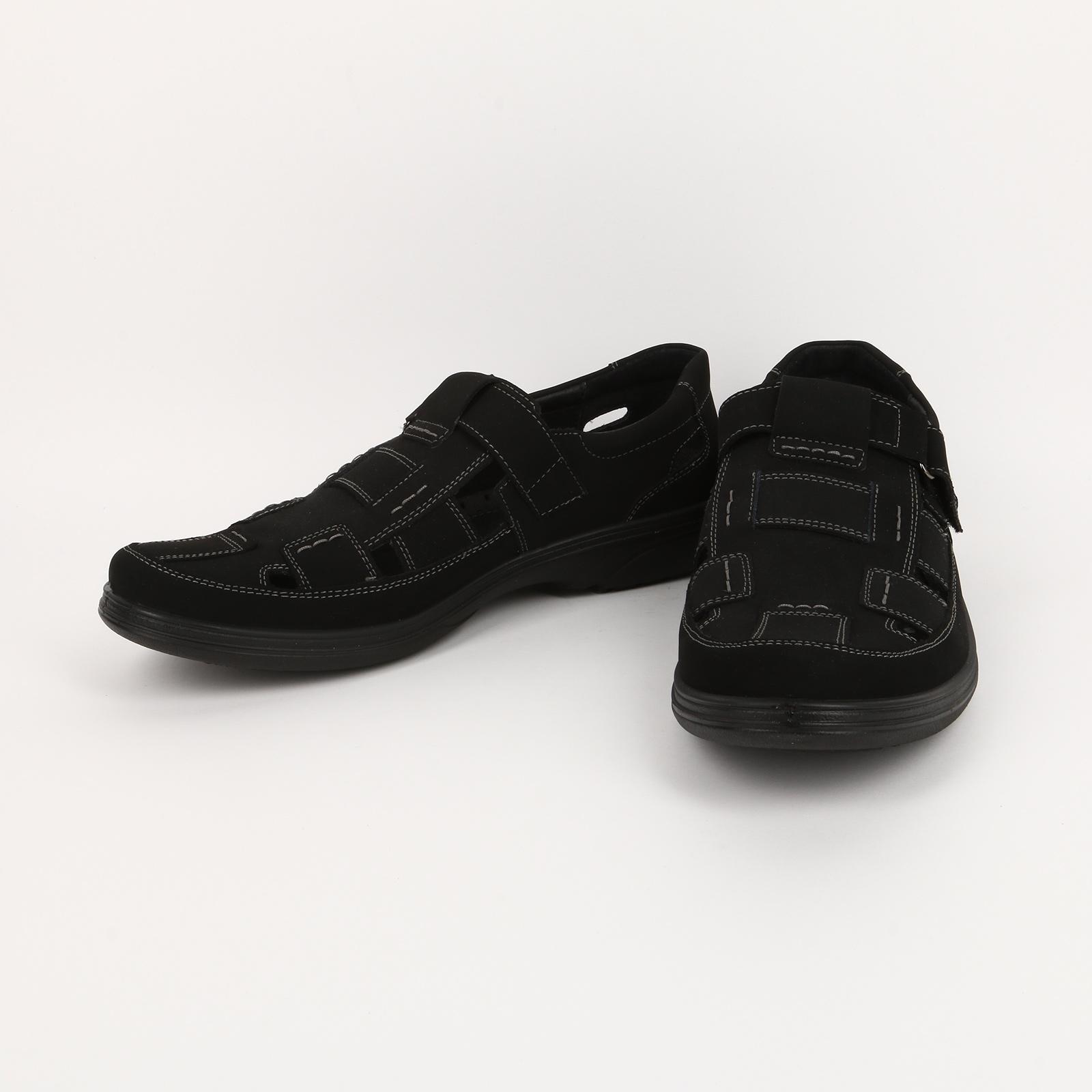 Туфли летние мужские с застежкой на липучке