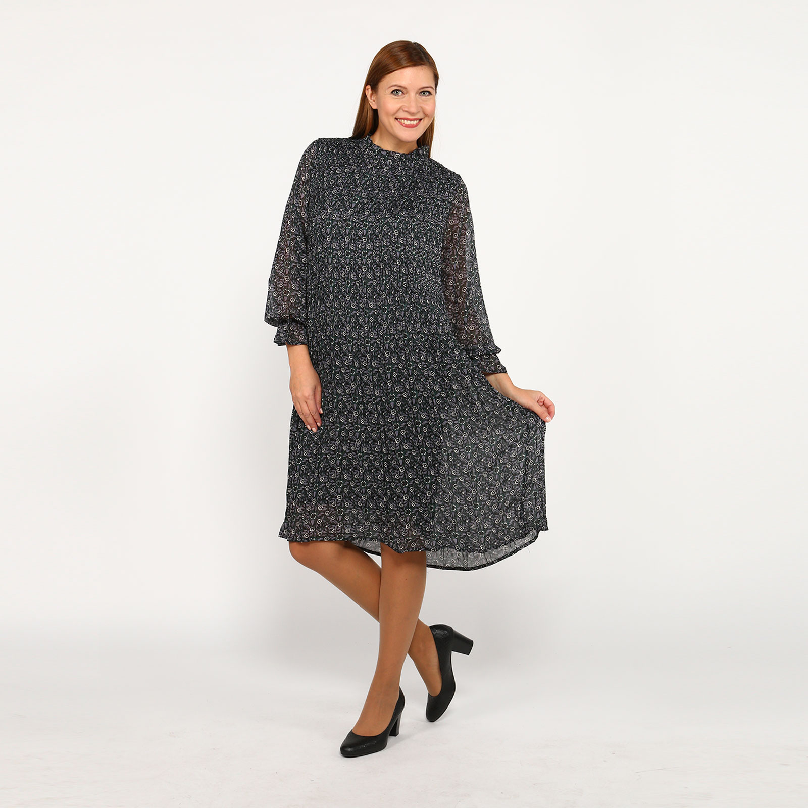 Платье оригинальное с принтом цветы кардиган pettli collection pettli collection pe034ewvvz23