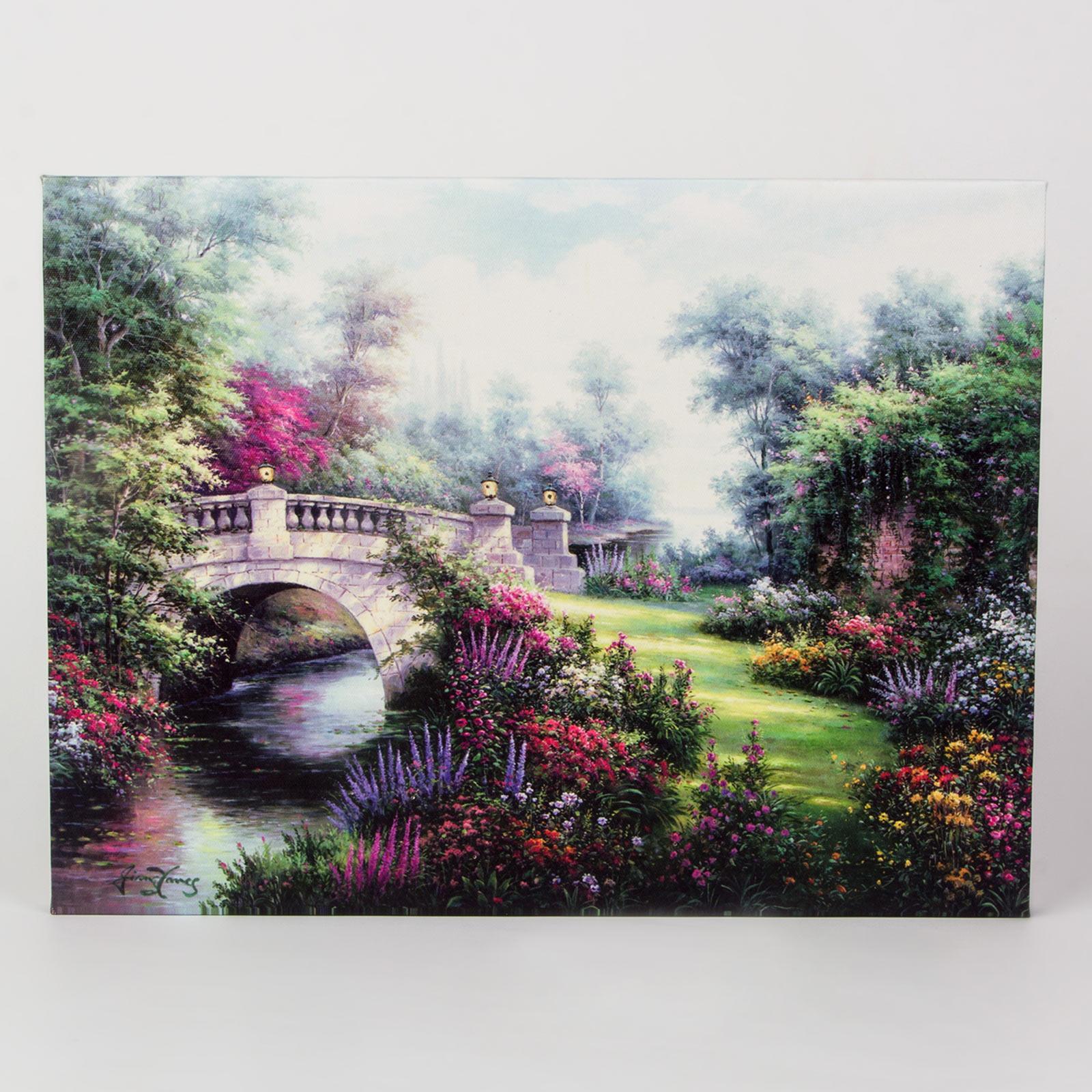 Светодиодная картина «Каменный мост»