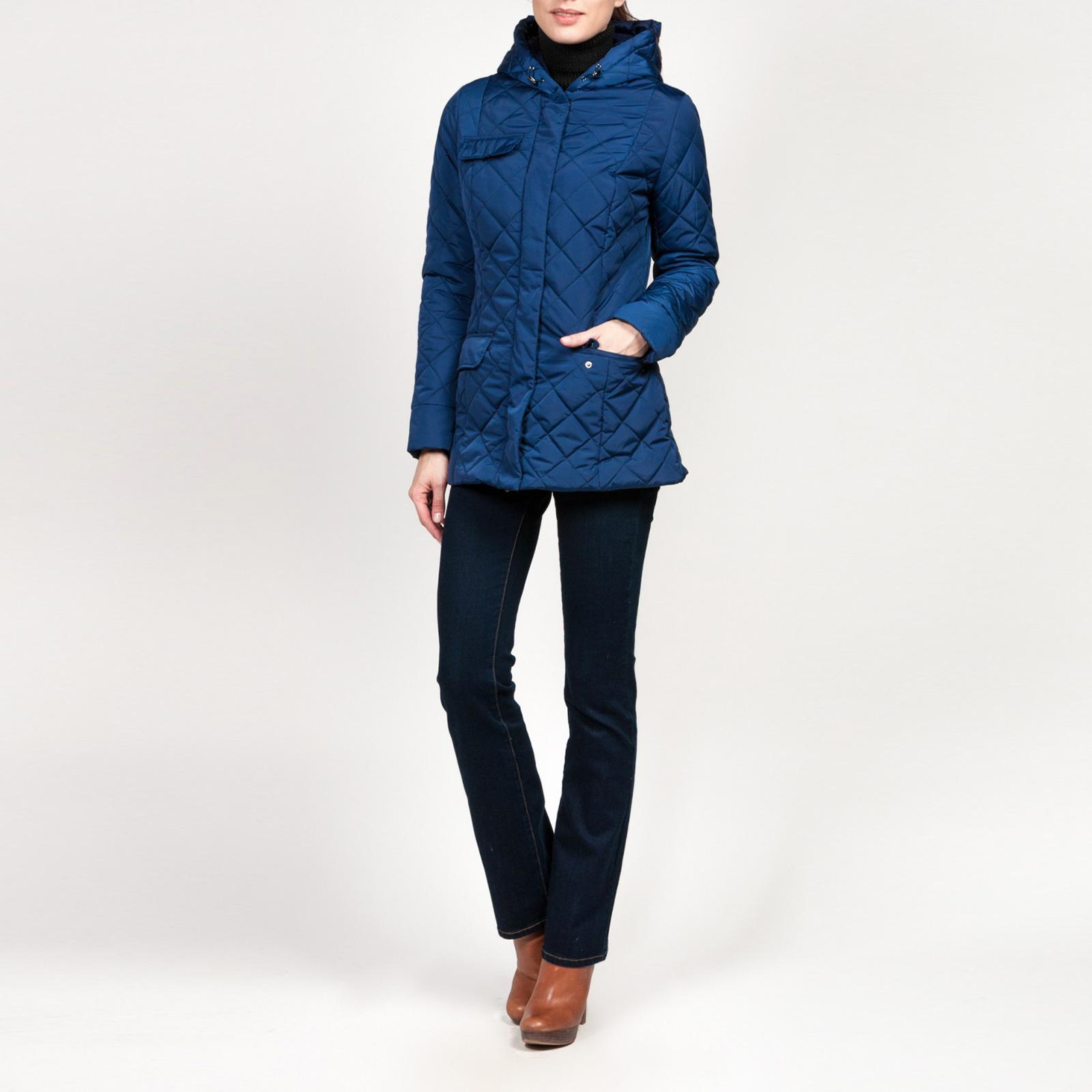 Куртка стеганая на молнии с карманами
