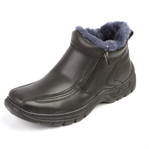 Мужские зимние ботинки на утолщенной подошве