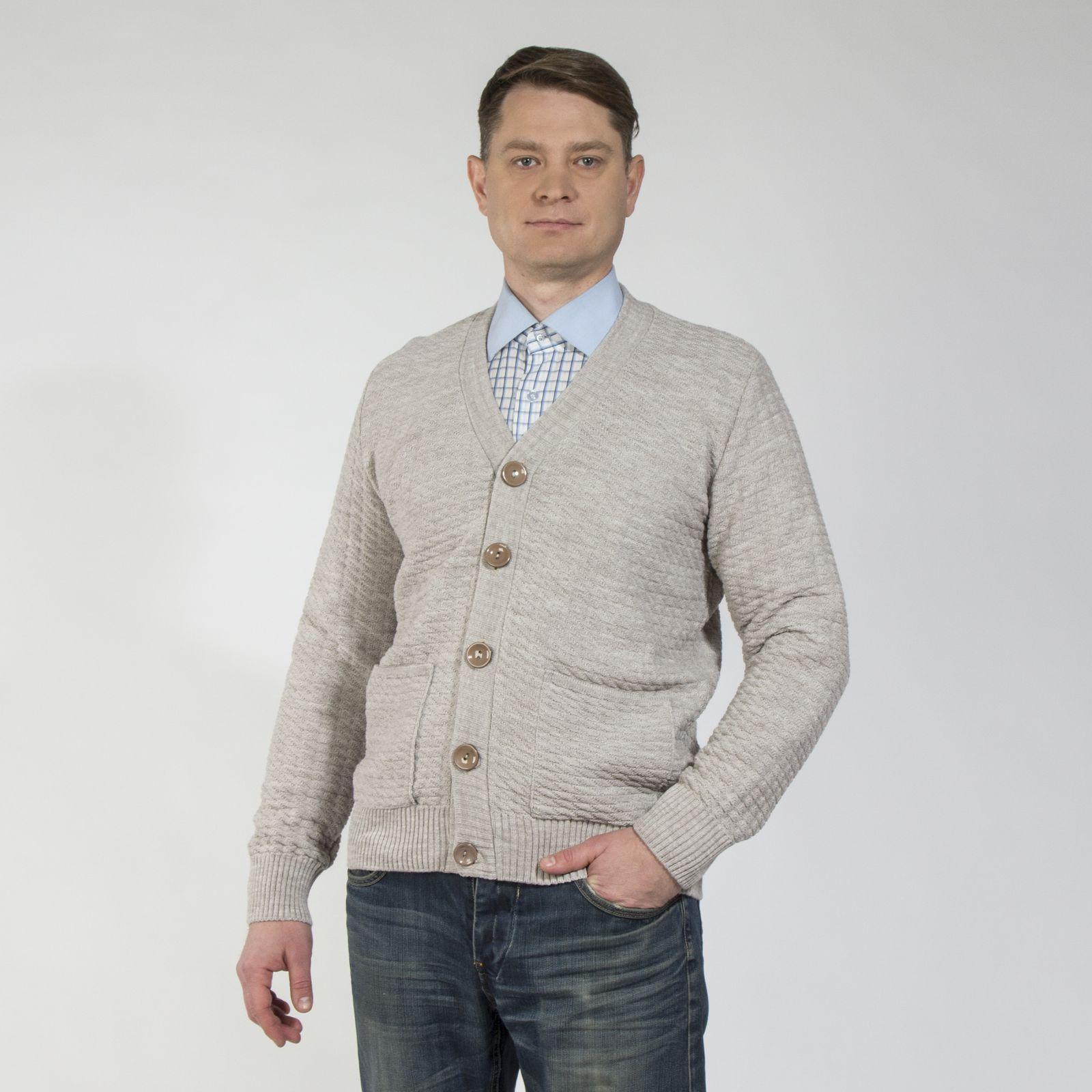 Кардиган классического кроя на пуговицах с карманами