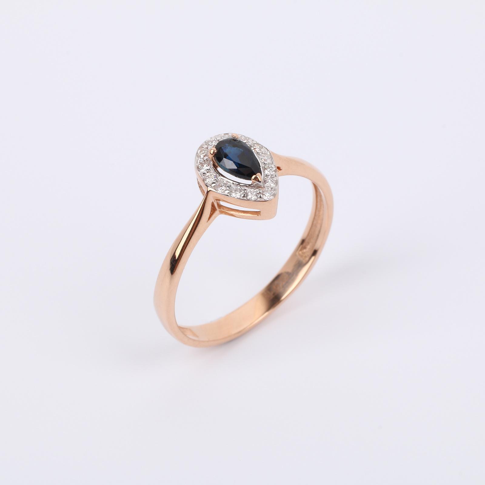 """Золотое кольцо """"Драгоценная капля"""""""