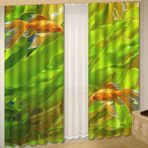 Комплект штор + тюль «Золотая рыбка»