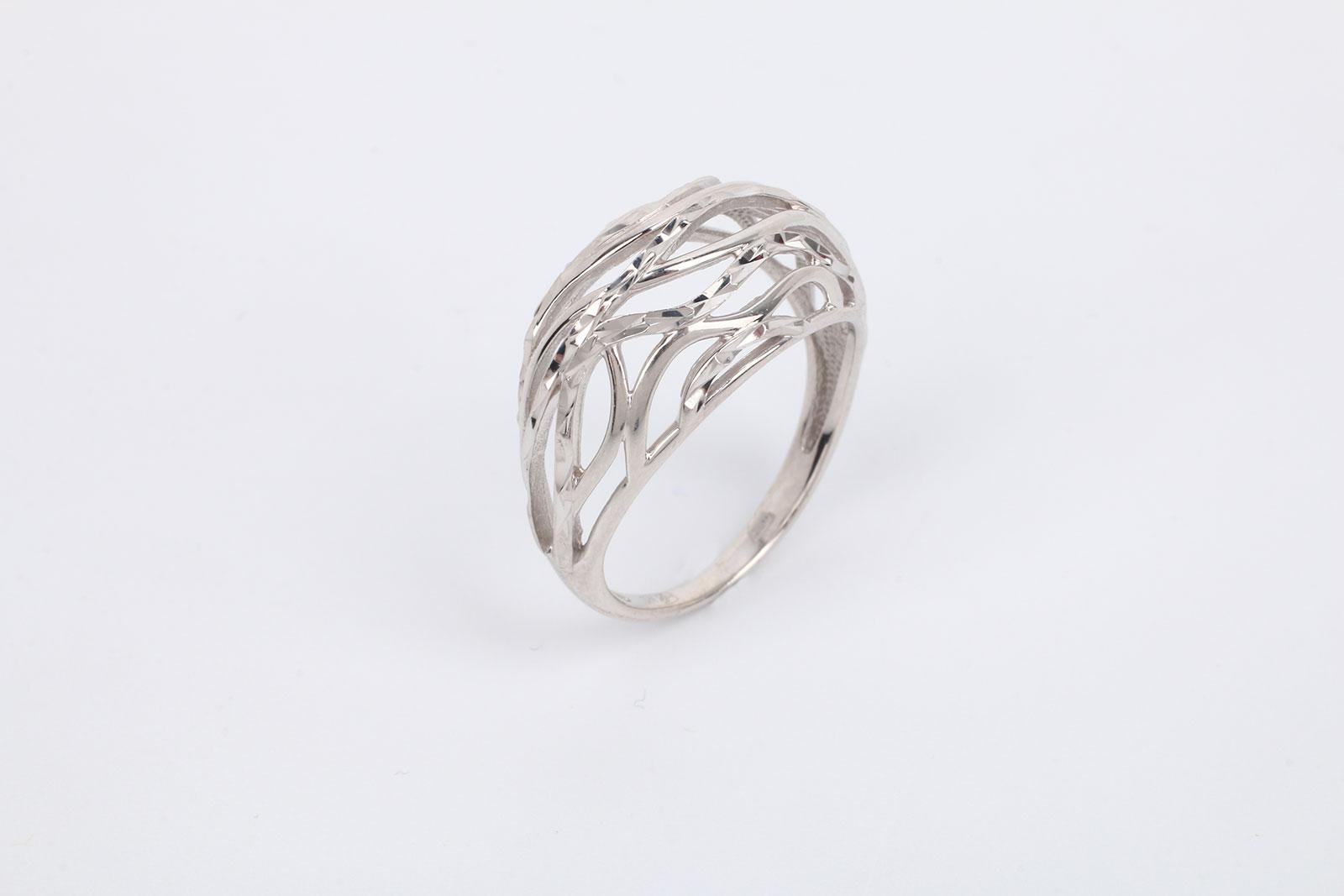 """Серебряное кольцо """"Драгоценная паутина"""""""