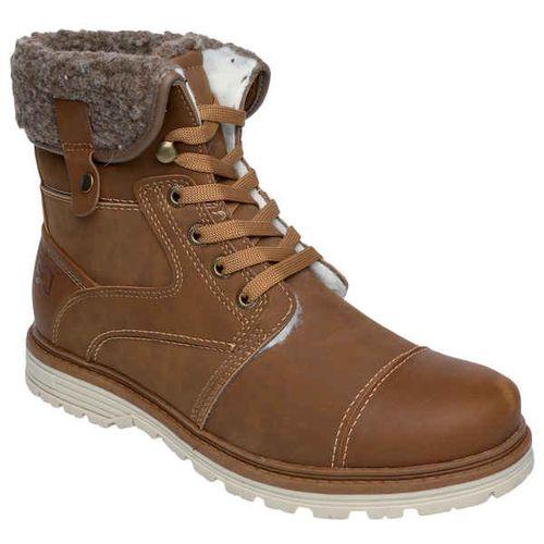Мужские ботинки с меховым отворотом