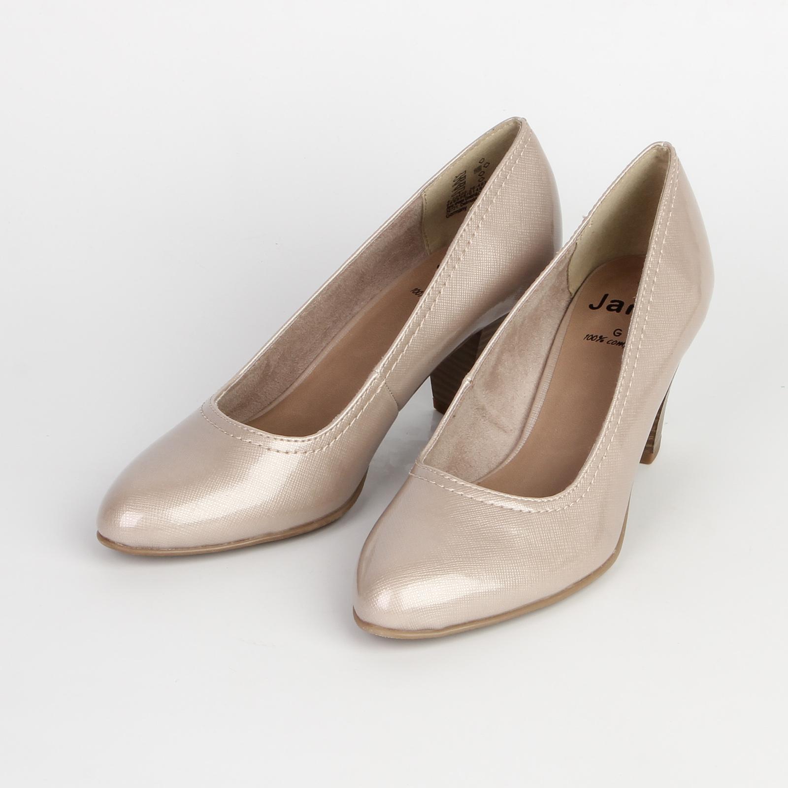 Туфли женские перламутровые на устойчивом каблуке