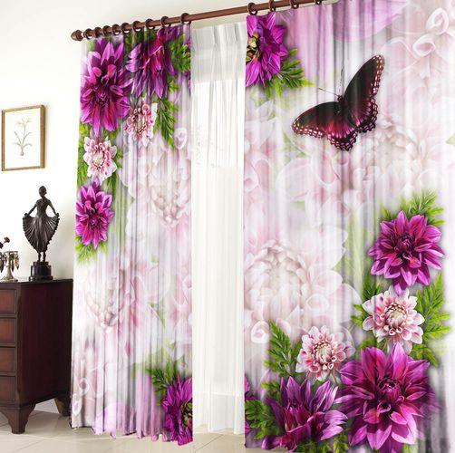 Комплект штор «Хризантемы»